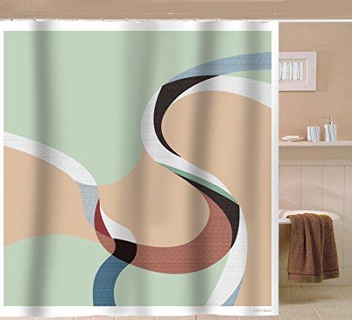 Cheap  Sunlit Designer Artwork Pattern Printed Fabric Shower Curtain Modern Design Art For..