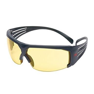 3M SecureFit Safety Glasses, Grey frame, Scotchgard Anti-Fog, Amber Lens, SF603SGAF-EU 7100112712