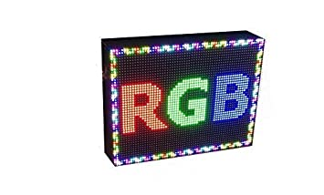 CARTEL LED PROGRAMABLE LETRERO LED PROGRAMABLE (64 * 32 cm, RGB) PANTALLA LED PROGRAMABLE ROTULO LED PROGRAMABLE CARTEL ELECTRÓNICO ANUNCIA TU ...