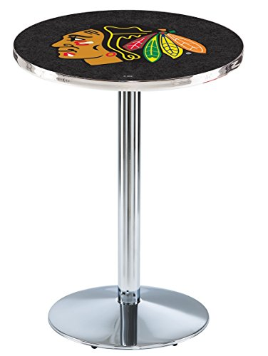 Chicago Blackhawks Pub Table w/Black ()