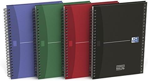 OXFORD 100101258 Adressbuch Essentials A5 Daumenregister von A - 144 Blatt Zufallsfarbe