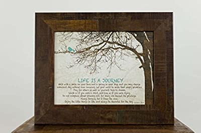 Life Is A Journey Home Family Love Inspirational Religious Framed Art Decor 13x16""