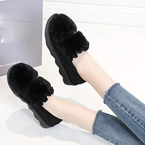 En Chaud Au Marron Femmes Antidérapantes xinantime Garder Bout Bottes Les Plates Hiver Neige De À Femmes Pour Rond Coton Chaussures FIwq1xnZ