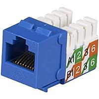 Black Box FMT920-R2-25PAK GigaBase2 CAT5e Jack, Universal Wiring, Blue, 25-Pack