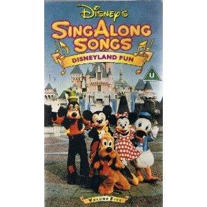 Disney S Singalong Songs Disneyland Fun Volume 5 Vhs Amazon Co
