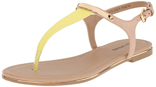 Yellow Gwaleviel It Miscellaneous Call Women's Sandal Spring Flat wfApqZY