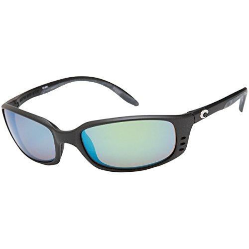 Costa Del Mar Brine Sunglasses, Black, Green Mirror 400G - Costa Mens Glasses