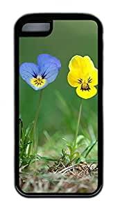 Distinct Waterproof Beautiful Blue Yellow Iris Design Your Own iPhone 5c Case