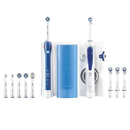 Oral-B OxyJet Reinigungssystem (Munddusche mit Oral-B Pro 5000 elektrische wiederaufladbare Zahnbürste)