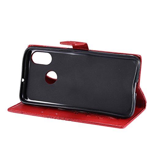 Kickstand Card Xiaomi Shockproof Leather for Case 8 Grey Mi Xiaomi Red Mi8 Cover Flip Case Case Holder with Lomogo Wallet LOKTU22793 qwaz8xPC