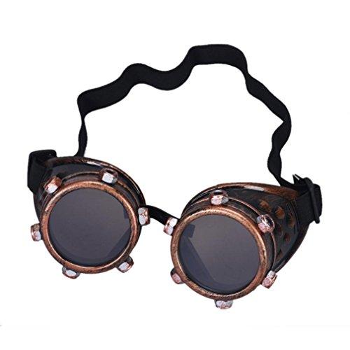 Lens Interchangeable Punk zolimx DIY Steampunk Glasses Windproof B IwxqvAqHt