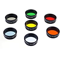 Gosky Telescope filters set 1.25 7 Filters Set for 1..25inch Telescope Eyepieces
