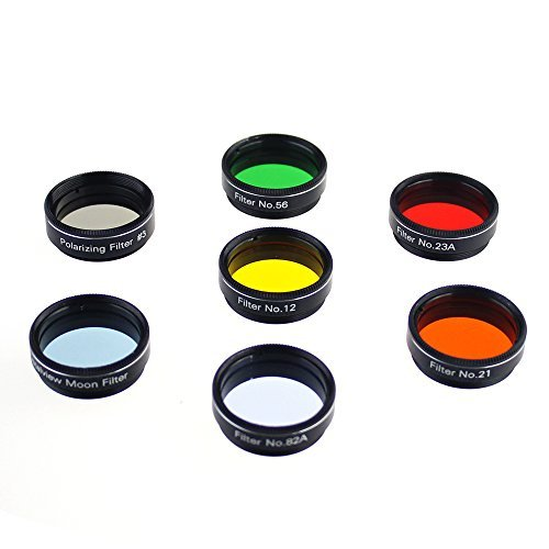 Gosky Telescope filters set 1.25'' 7 Filters Set for 1..25inch Telescope Eyepieces