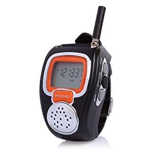 Freetalker RD-008B Portable Digital Walkie Talkie Two-Way Radio Watch for Outdoor Sport Hiking, 462MHZ, black, 2pcs from Freetalker