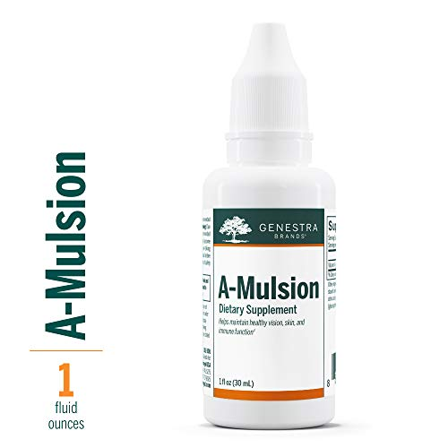 Genestra Brands - A-Mulsion - Emulsified Vitamin A Liquid - Citrus Flavor - 1 fl oz (30 ml)