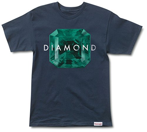 (Diamond Supply Co Rare Gem Men's Shortsleeve T-Shirt Navy Blue/Green a16dpa18-nvy (Size M))