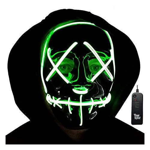 Trippy Lights Purge Mask LED Light Up Stitchface Purge Mask Kids Adults Halloween Costume Mask