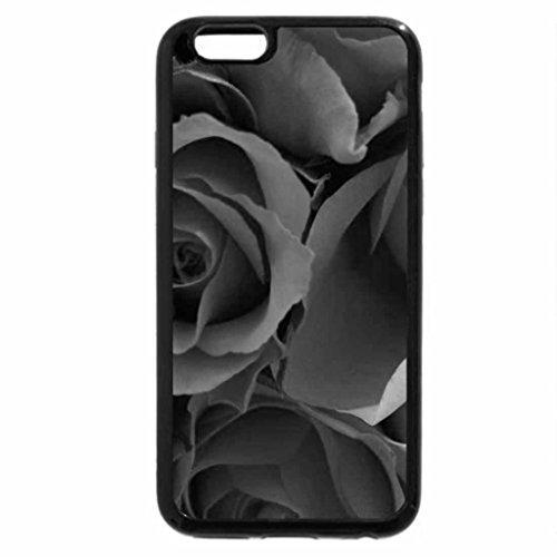 iPhone 6S Plus Case, iPhone 6 Plus Case (Black & White) - Roses 2