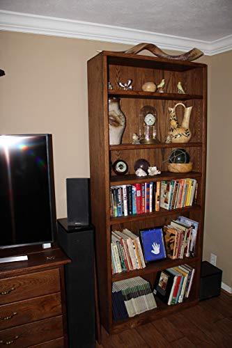 Oak bookcase, oak bookshelf, bookcase, bookshelf, living room furniture, bedroom furniture