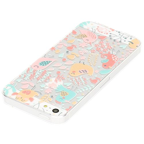 delightable24 Ultra Dünne Schutzhülle Leichtes Design Case TPU Silikon für Apple iPhone SE / 5 / 5S Smartphone - Birds
