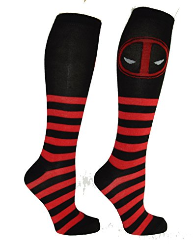Marvel Deadpool Symbol Knee Socks product image