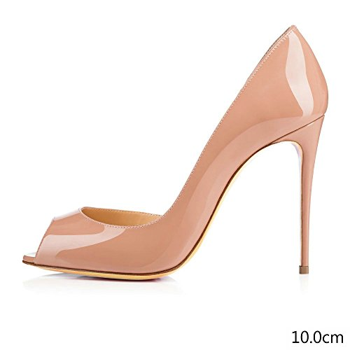 Pumps Platform apricot Heel Toe AIWEIYi Fashion Women's Open High pzqp0UEw