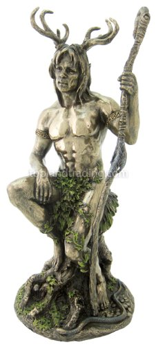 """Top Collection 10.5"""" Herne the Spirit Hunter Statue in Cold Cast Bronze -Celtic God of the Forest, Animals, and Fertility Figurine"""