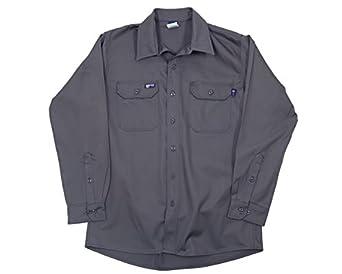LAPCO IGR7-SM-REG Lightweight 100-Percent Cotton Flame Resistant Work Shirt, Gray, Small, Regular