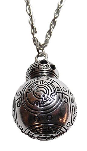 [Star Wars BB-8 Droid Character 3-D Silvertone PENDANT on 20