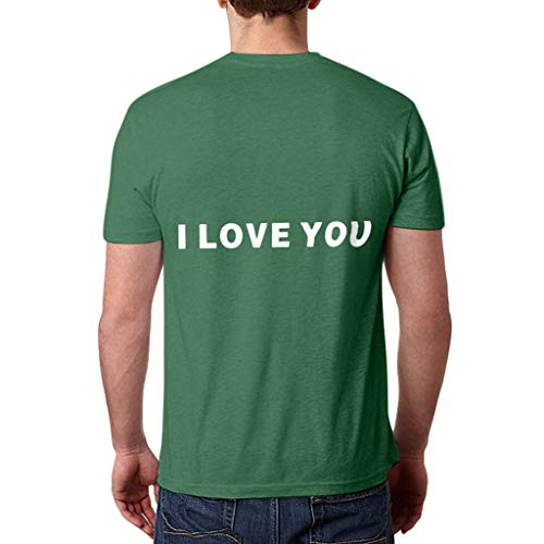 NCCIYAZ Womens Man Unisex Couple Wear T-Shirt Top I Love You 3000 Times for Marvel Iron Man Tony Stark Print Plus Size(S,Green-Men 2)