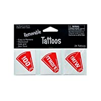 Kole Imports KK925 Removable Red Cheer Tattoos