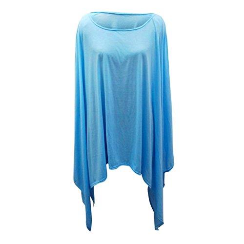 Spbamboo Women Plus Size Casual Blouse Irregular Shirt Batwing Sleeve Tops 2018 by Spbamboo (Image #2)