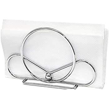 Venalini Stainless Steel Napkin Holder, Silver Chrome