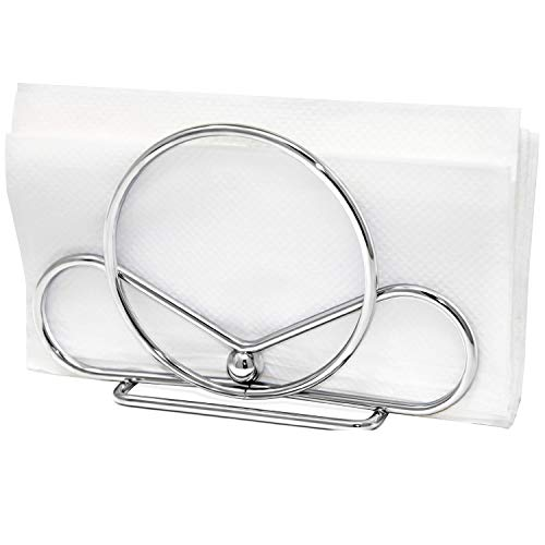 Venalini Stainless Steel Napkin Holder, Silver
