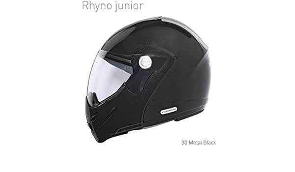 Amazon.com: Caberg Rhyno Junior Metal Black Motorcycle Scooter Helmet: Automotive