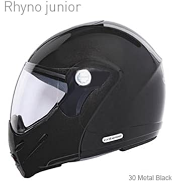 Caberg Rhyno Junior Metal Black Motorcycle Scooter Helmet