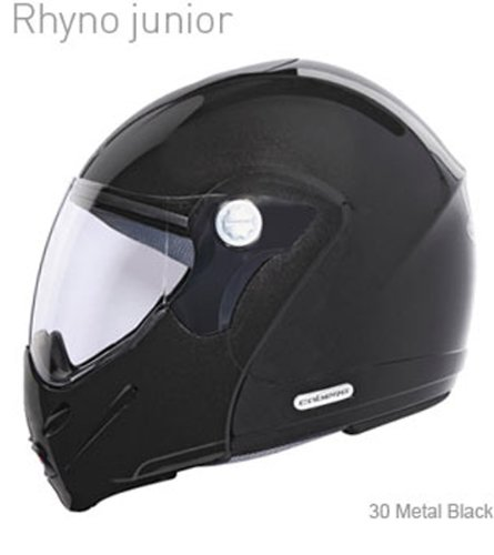 Caberg Rhyno junior Metal Negro motocicleta Scooter casco: Plain: Amazon.es: Coche y moto