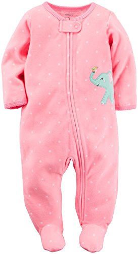Carter's Baby Girls' Microfleece 115g144, Pink, New Born