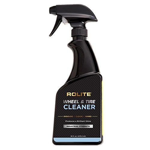(Rolite Wheel and Tire Cleaner (16 fl. oz.) - Acid Free and Safe for All Finishes Including Clear-Coats, Dissolves Brake Dust & Road Grime Instantly)
