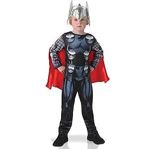 Rubies Rubie's–Disfraz oficial de Thor de Los Vengadores Assemble Classic, para niños–tamaño mediano.