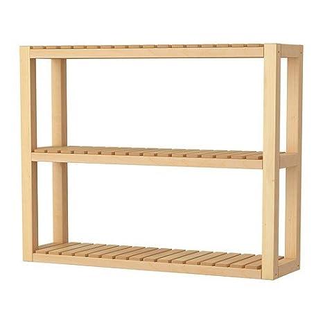 IKEA MOLGER Wandregal aus massiver Birke: Amazon.de: Küche ...