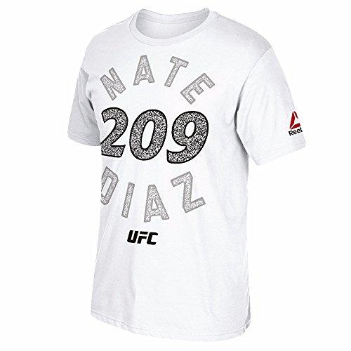 Fight Kit Walkout Jersey Mens Reebok Nate Diaz UFC Official Black//Royal Blue
