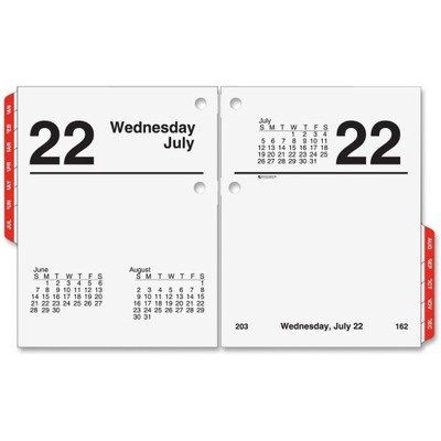 AT-A-GLANCE E919-50 Recycled Compact Desk Calendar Refill, 3' x 3 3/4', 2015