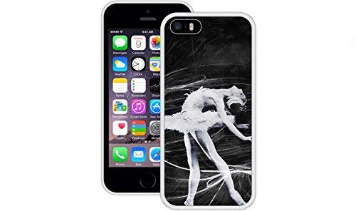 Ballerina Black & White | Handgefertigt | iPhone 5 5s SE | Weiß TPU Hülle