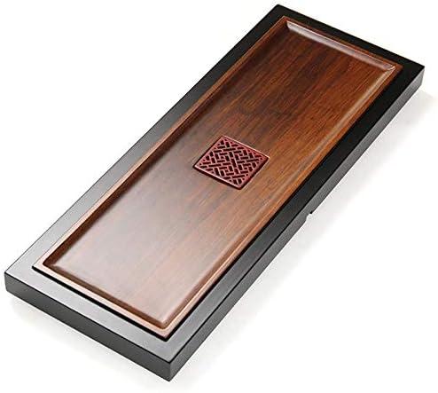 ティートレイ 80×31のx 4.3センチメートルYY:中空デザイン、サイズと長方形竹茶トレイ