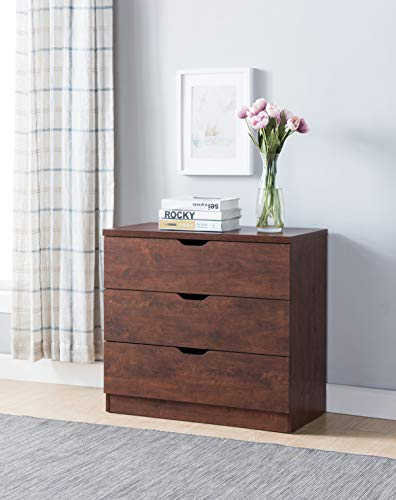 Smart home Eltra K Series K16074 Drawers Chest Dresser (Vintage Walnut, 3 Drawers)