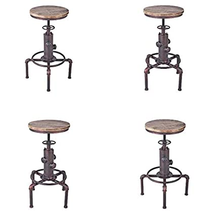 Wondrous Amazon Com Armen Living Remy Adjustable Barstool In Spiritservingveterans Wood Chair Design Ideas Spiritservingveteransorg