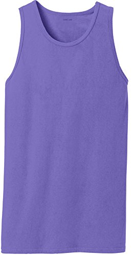 (Joe's USA Pigment-Dyed Tank Tops-Amethyst-4XL)