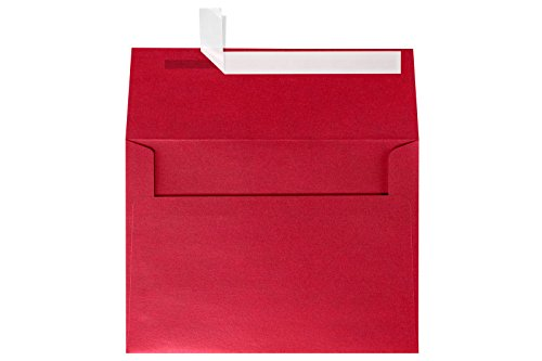 (LUXPaper A7 Invitation Envelopes for 5 x 7 Cards in 80 lb. Jupiter Metallic, Printable Envelopes for Invitations, w/Peel and Press Seal, 50 Pack, Envelope Size 5 1/4 x 7)
