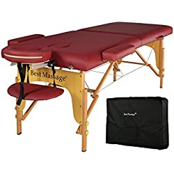 BestMassage PU Portable Massage Table w/Free Carry Case